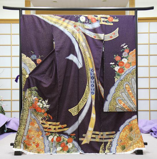 きもの利久-振袖紫